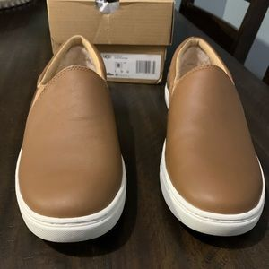 Ugg Kitlyn Cognac Leather Slip On